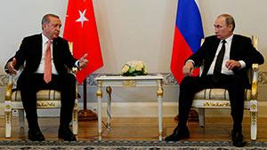 Встреча Путина и Эрдогана в Санкт-Петербурге