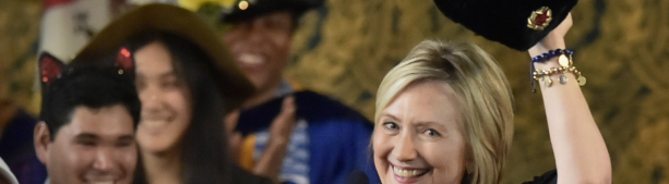 Хиллари Клинтон и шапка-ушанка