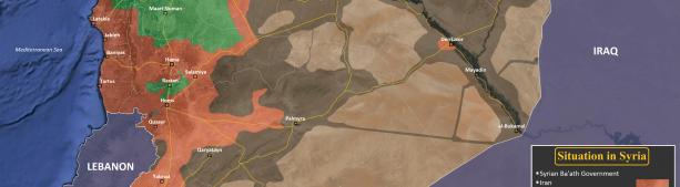 Ежедневная карта войны в Сирии с 2011 до 2018 год