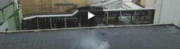 Гринпис бомбит с воздуха ядерный комбинат в Франции