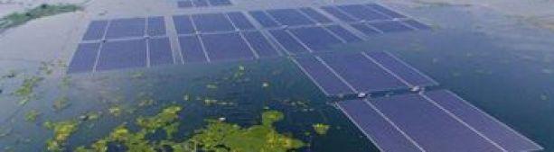 Во Франции дала ток крупнейшая в Европе плавучая солнечная электростанция
