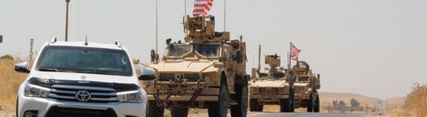 Военные Сирии остановили конвой США на подступах к комендатуре ВКС РФ в городе Камышлы