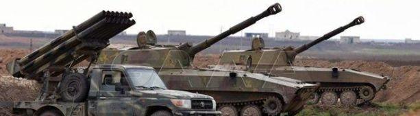 Видео атаки боевиков в Идлибе