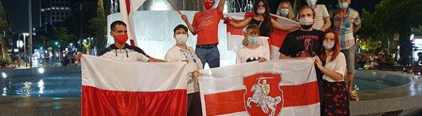 В Израиле прошла акция несогласия с выборами в Белоруссии