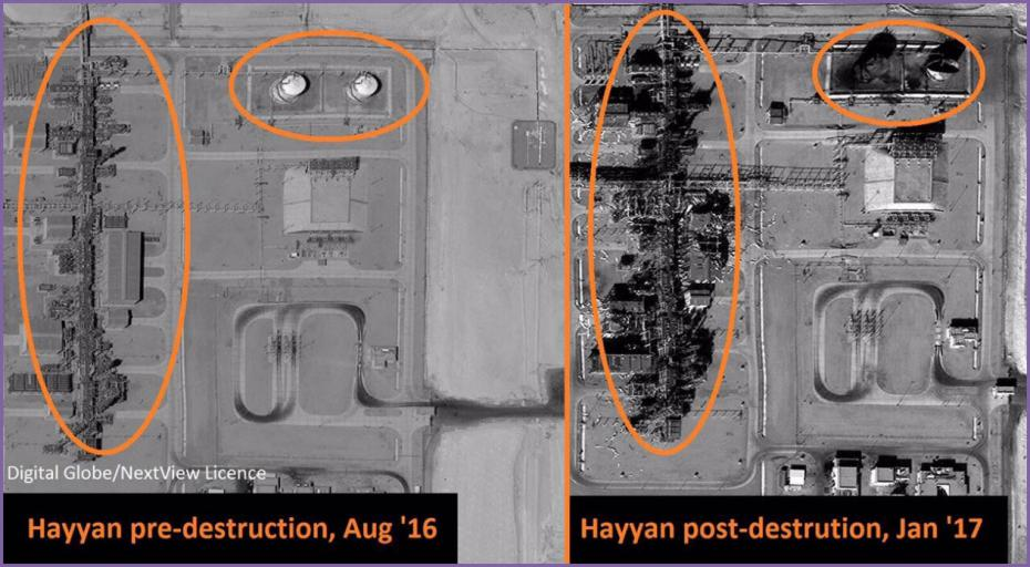 Завод Хаян до и после захвата боевиками халифата